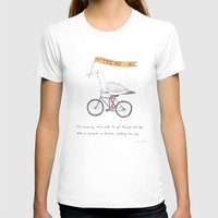 bicycles T-shirts featuring seagulls on bicycles by Marc Johns