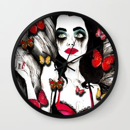 Butterfly Love Wall Clock