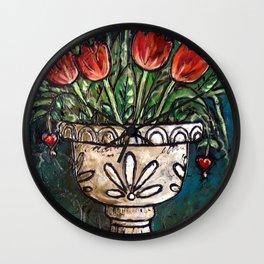 Tulips In Urn Wall Clock