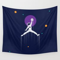 nba Wall Tapestries featuring NBA Space by Tony Vazquez