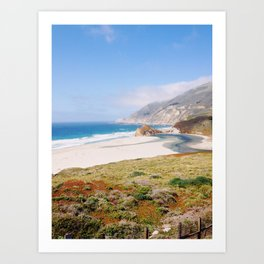 Sunny Central California Coast Art Print
