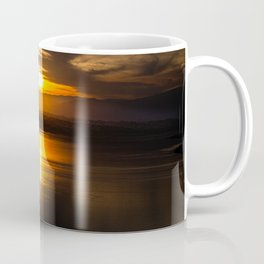Golden glow over Black Butte Lake Coffee Mug