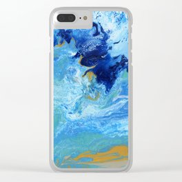 Ocean Swell Clear iPhone Case