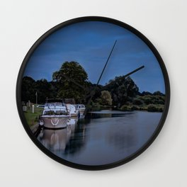 River Bure Coltishall at twilight Wall Clock