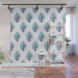 Peacock Pattern_B01 Wall Mural