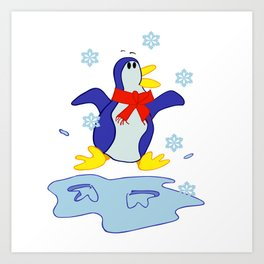 Happy Penguin Art Print