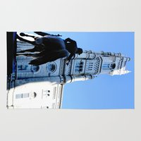 philadelphia Area & Throw Rugs featuring Onward (Philadelphia) by Julie Maxwell