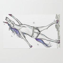 Unicorn Undies Rug