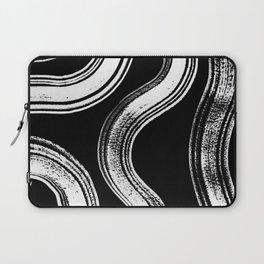 Modern Black + White Laptop Sleeve