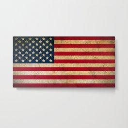 Vintage American Flag Metal Print