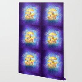 Yellow Bioluminescence Wallpaper