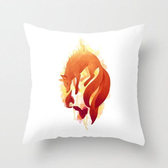 Fire Fox Throw Pillow