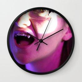 The Vampiric Saturnine Gaze of Thirst Wall Clock