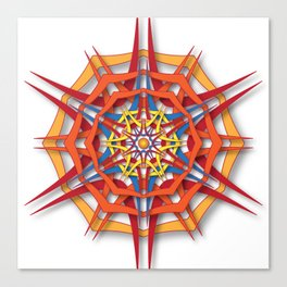 abstract mandala harsh sunlight Canvas Print