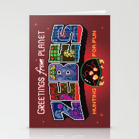 Greetings from Planet Zebes Stationery Cards
