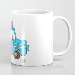 firetruck blue vintage fire truck Coffee Mug