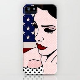 LanaDelRey Pop Art Portrait - Like An American iPhone Case