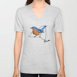 New York – Eastern Bluebird Unisex V-Neck