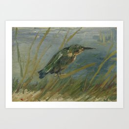 Kingfisher by the Waterside Art Print