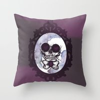 lucas david Throw Pillows featuring Lucas by Gaab D'Amato