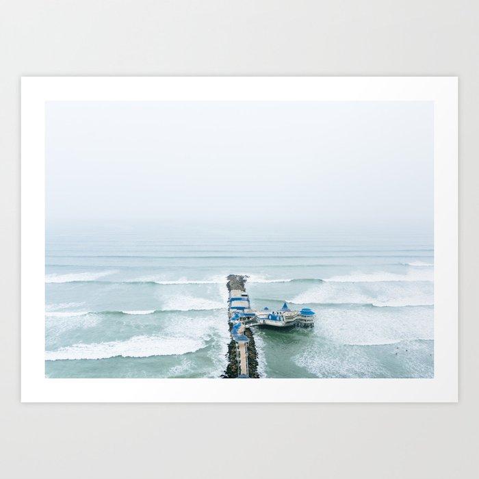 View off the Coast of Miraflores, Lima, Peru Art Print