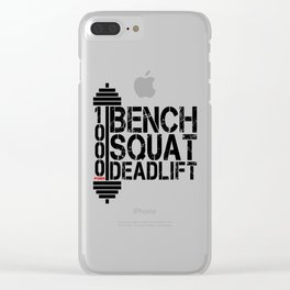 1000 Pounds Bench Squat Deadlift Powerlift Club Fitness Bodybuilder Bodybuilding Clear iPhone Case