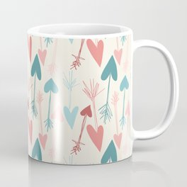 Valentine Arrow + Heart or Boho Heart Arrow - Great for Valentine's Day, Couples, Weddings, Engagements and Nursery or Kid's Room - Available in coordinating boho arrow print in ship Coffee Mug