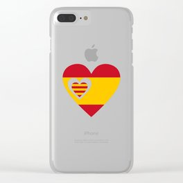 Catalan and Spanish Clear iPhone Case