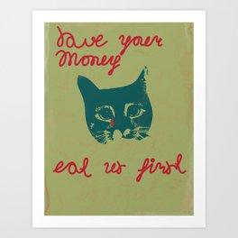 sadly cat Art Print