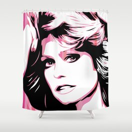 Farrah Fawcett | Pop Art Shower Curtain