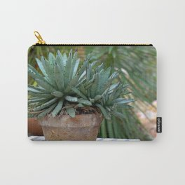 Succulent Plant in Planter Carry-All Pouch