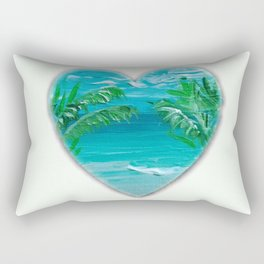 Florida, beach with palms~Ocean Love Rectangular Pillow