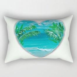 Florida, beach with palms~Ocean Love Rectangular Pillow