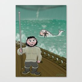 Whaling like a Baby Canvas Print