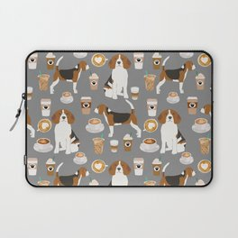 Beagles Coffee print cute dog beagle fabric pillow iphone case Laptop Sleeve