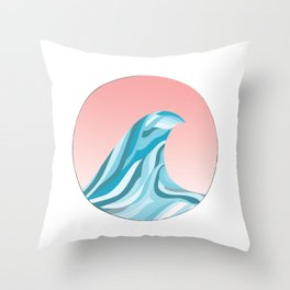 Blue Wave Off The Coast 1 Throw Pillow
