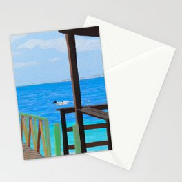 Lookout along Grand Case Beach Stationery Cards