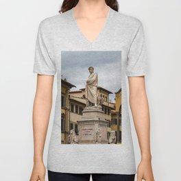 Dante Alighieri Statue Unisex V-Neck