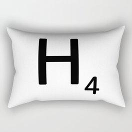 Letter H - Custom Scrabble Letter Tile Art - Scrabble H Rectangular Pillow