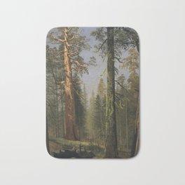 Albert Bierstadt - The Grizzly Giant Sequoia Bath Mat