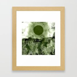 Dark Moon Landscape Framed Art Print