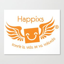 Happixs t-shirt Canvas Print