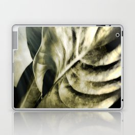 sunlight on golden silver tropical leaves Laptop & iPad Skin