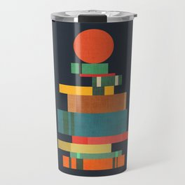Book stack with a ball Travel Mug
