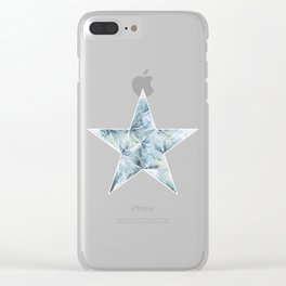 Frosted Star Clear iPhone Case