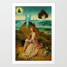 "Hieronymus Bosch ""St. John the Evangelist on Patmos"" Art Print"