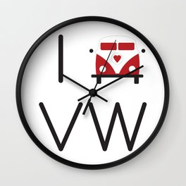 I heart Campervans Wall Clock