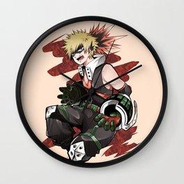 Katsuki Bakugou Awk Wall Clock