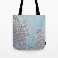 sakura Tote Bags featuring Sakura by Luke J