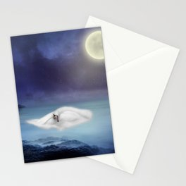 Beauty under the moon Stationery Cards